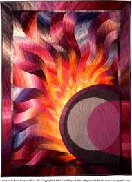 Image result for solar eclipse quilt pattern