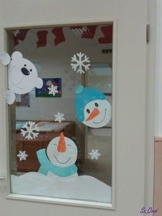 výzdoba okna - zima