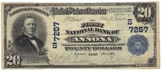 Annona, TX - Ch. 7257 - 1902 $20 Plain Back This is just the fourth large size note to be documented from The First National Bank of Annona. All four notes are blue seals. The only auction result is for a note listed as VF/XF and it sold for $4,100 in 1998; that was a tremendous amount of money for any national banknote. Now, 17 years later, I would expect there to be a long list of collectors looking to add this town to their holdings. Pen signatures and crispy paper are worthy of mention.