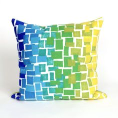 Trans-Ocean Imports 7SB2S415906 Visions Ii Collection Blue Finish Pillow