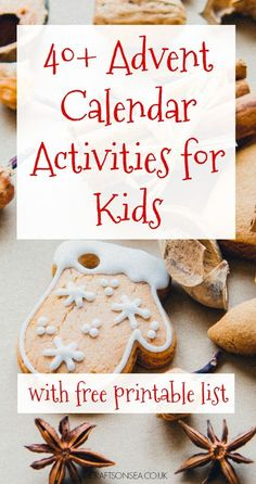 40+ Advent calendar activities for kids, ideas including Christmas stories, films and crafts for kids. Fun things to do and easy festive things to make plus a free printable list you can use.