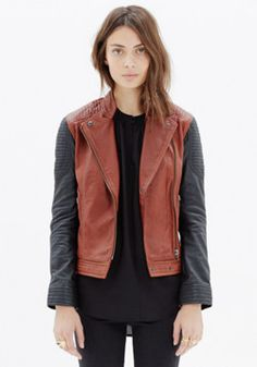 Quilted Leather Backroad Jacket by madewell