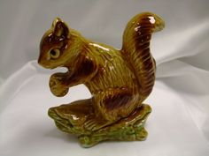 Vintage Ceramic Squirrel Figurine made in by 800ChestnutStreet, $5.00