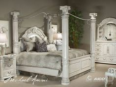 Monte Carlo II Queen Poster Bed with Canopy