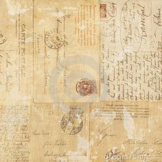 Grungy Vintage Postcard Ephemera Collage Backgroun Royalty Free Stock Photography - Image: 20986907