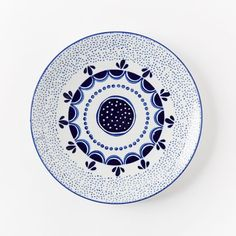 *** SPARE BR IDEA: Pattern for rug or round pillow  Collector's Edition Dinnerware Wall Art, Salad Plate, Navy Speckled, 9