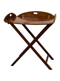 Standing bars are always chic: Antique British Butler's Tray in Mahogany | The HighBoy | www.thehighboy.com