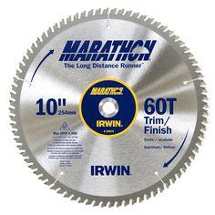 """Irwin Marathon 14074 10"""" 60 TPI Marathon Miter & Table Saw Blades"""