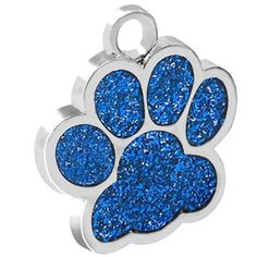 Pet ID Tags for Dogs and Cats Glittery Paw Print Collar Tag Personalized Custom -- Be sure to check out this awesome product. (This is an affiliate link and I receive a commission for the sales)