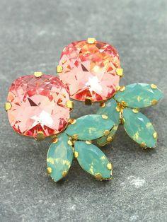 Pretty coral, mint,