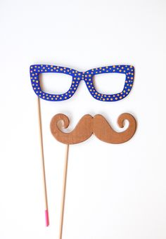 Painted Photo Booth Props - The Crafted Life
