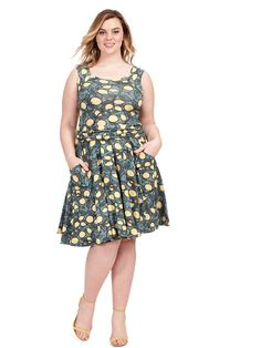 Dolce Vita Dress In Citrus Print by Effie's Heart Available in sizes XL and 1X-4X