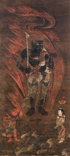 Burke Collection | Fudō Myōō (不動明王) and Two Attendants