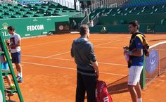 Roger Federer and Novak Djokovic Share the Court Practicing in Monte Carlo (Pics Inside)!
