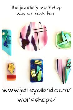 Kilnformed and fused glass art gifts, bespoke pieces by Melbourne based artist Jenie Yolland. Beginner to advanced workshops and classes run regularly. Glass Earrings, Glass Jewelry, Jewellery Workshop, Fused Glass Art, Ceiling Pendant, Glass Pendants, Three Dimensional, Wearable Art, Handcrafted Jewelry