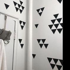 Wall Decals 120 Mini Triangle Vinyl Wall Stickers, Geometric Wall Decals - 2 sheets  $49.00 / dark red