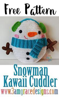 Free Snowman crochet ragdoll pattern rag doll