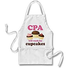Funny Cpa Certified Public Accountant Adult Apron Accountant Gift