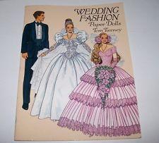 Boda de la vendimia muñecas de papel de moda Tom Tierney libro 1993