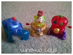 Quiet lap activities for traveling with a toddler: WIND UP TOYS to use with a lap tray