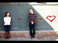 My friend had this idea for an engagement photo! Isn't it precious!