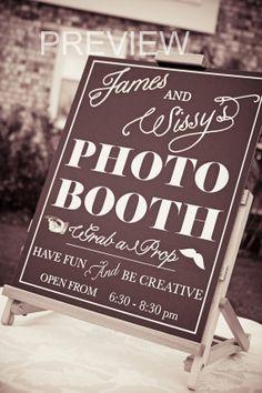 Custom Photo Booth Sign