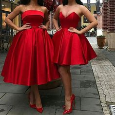 Beautiful A Line Strapless/Sweetheart Red Homecoming Dresses 2019 sold by BeautyLady. Shop more products from BeautyLady on Storenvy, the home of independent small businesses all over the world. African Fashion Dresses, African Dress, Fashion Outfits, Red Fashion, Lace Evening Dresses, Strapless Dress Formal, Formal Dresses, Red Homecoming Dresses, Bridesmaid Dresses