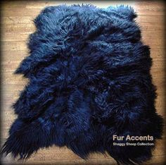Fur Accents Shaggy Faux Sheepskin Area Rug / Jet Black / Long Hair / Soft Ultra Suede Back / Freeform Shape / 3'x5' Fur Accents http://smile.amazon.com/dp/B00HBY90H2/ref=cm_sw_r_pi_dp_Sz2owb0R957VY