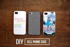 What a fun idea - DIY cell phone cases. See the rest of the blog post for the tutorial.