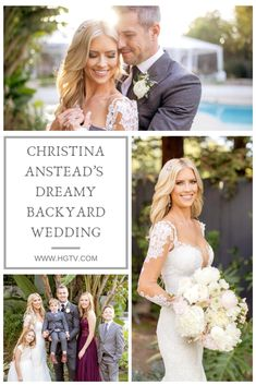 On December Christina and Ant Anstead pulled off a surprise wedding in their backyard for 70 of their closest friends and family. Diy Wedding Binder, Christina El Moussa, Surprise Wedding, Closest Friends, Corsage Wedding, December 22, Wedding Flowers, Wedding Dresses, Doha