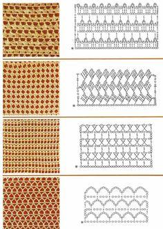 Mis tejidos en crochet y dos agujas (palitos): Patrones en Crochet (