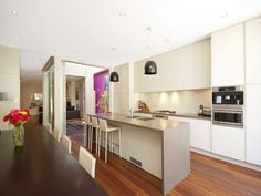 Floorboards in a kitchen design from an Australian home - Kitchen Photo 418813