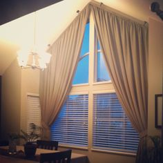 curtains for angled top windows - Google Search
