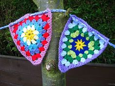 Bunny Mummy: Colourful Crochet Bunting