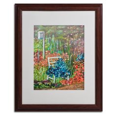 Serene Garden by Judy Harris Matted Framed Painting Print