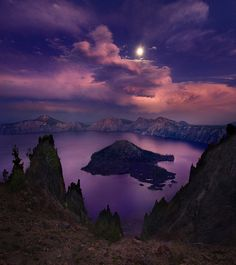 Wizard Island, Crater Lake, Oregon by Marc Adamus