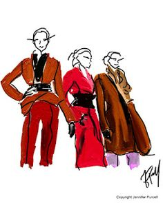 Harder Ackermann Fall 2012 fashion illustration by Jennifer Purcell
