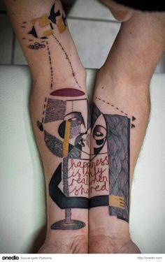 Müşterilerinin Hikayelerine Göre Sürreal ve Kübist Dövmeler Yapan İki Sanatçının 20 Şaheseri