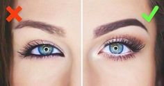 do and do not eye makeup- Makeup tricks every girl should know www. Make-up-Tr Makeup Tricks, Eye Makeup Tips, Skin Makeup, Makeup Tutorials, Makeup Ideas, Eyeshadow Makeup, Big Eye Makeup, White Eyeliner Makeup, Makeup Meme