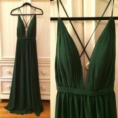 Hunter Green Prom Dress,Backless Evening Dress,Fashion Prom Dress,Sexy Party Dress,Custom Made Evening Dress
