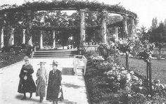 Rosaleda del PRADO DE MONTEVIDEO , URUGUAY ,  AÑO 1920 , APROXIMADAMENTE +++++