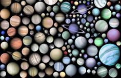 New Visualization Shows Incredible Variety of Extraterrestrial Worlds   Heres a great new poster showing over 500 extrasolar planets (about one quarter of the total) that have been discovered since 1988. This visualization created by graphic artist and writer Martin Vargic from Slovakia is based on the estimated radius and temperature of the planets however other factors such as density age or stellar metallicity were also taken into consideration. All the various known classes of exoplanets…
