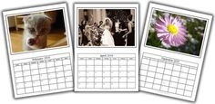 Download this free photo calendar template to create & print a personalised calendar using your own computer. Comes with an easy step-by-step video tutorial.