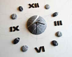 Modern wall Clock, Large clock with roman numerals Diy clock wall art by Sognoametista