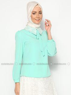 Collar Lace Shirt - Vert menthe - Ceren To Be