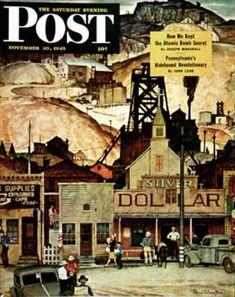 Saturday Evening Post - 1945-11-10: The Silver Dollar (Mead Schaeffer)