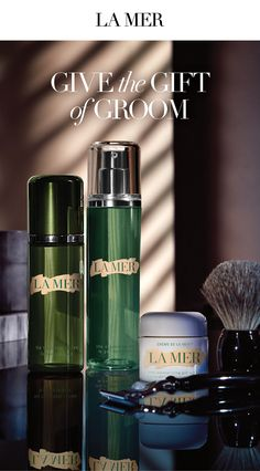 'La Mer makes the man. Give him the ultimate in skincare this Father's Day. The Cleansing Gel readies the skin for the perfect trim - a purifying wash without stripping moisture For immediate after-shave soothing, a splash of The Treatment Lotion deeply hydrates and energizes the skin. Then smooth on The Moisturizing Gel Cream for deep renewal with a cool, calm, ultra-refreshing touch. Let him choose the moisturizer men love.