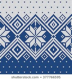Imágenes similares, fotos y vectores de stock sobre Knitting ornamental seamless colourful vector pattern with rows of dark blue stylized flowers and over white as a knitted fabric texture; Baby Knitting Patterns, Knitting Charts, Fuse Bead Patterns, Beading Patterns, Stitch Patterns, Cross Stitch Tree, Filet Crochet, Knit Crochet, Fair Isle Pattern