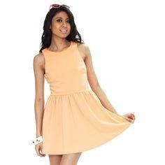 SHOWPONY Sugar High in peach - perfect summer dress!
