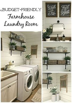 Kier here!!! Isn't this rustic bathroom gorgeous!??! #modernfarmhouse #laundry #farmhouse